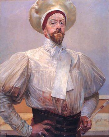 Autoportret w bialym | Jacek Malczewski | oil painting