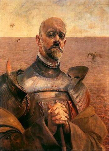 Autoportret w zbroi 2 | Jacek Malczewski | oil painting