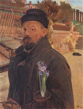 Autoportret z hiacyntem | Jacek Malczewski | oil painting