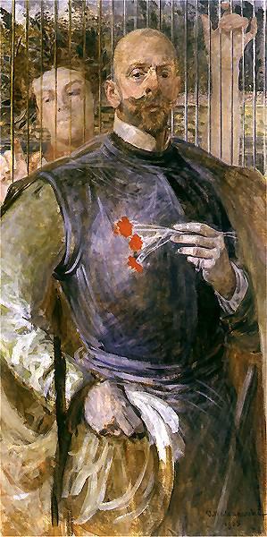 Autoportret z muza 2 | Jacek Malczewski | oil painting