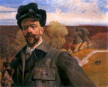 Autoportret z pisanka | Jacek Malczewski | oil painting