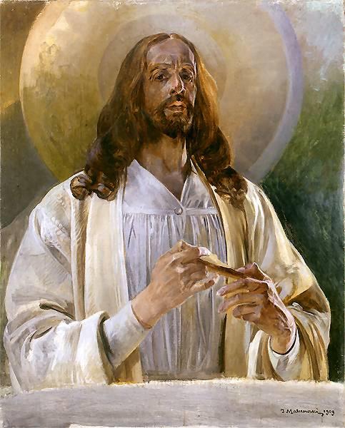 Chrystus w Emaus | Jacek Malczewski | oil painting