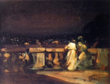 Watching the Fireworks St Cloud | Charles Conder | oil painting