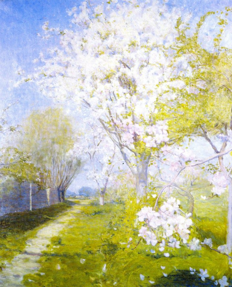 Blossom at Dennemont | Charles Conder | oil painting