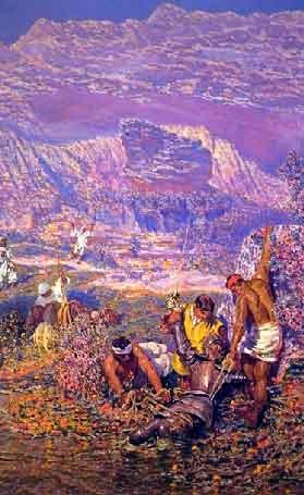 Los molineros sacan del agua a Don Quijote | Antonio Munoz Degrain | oil painting