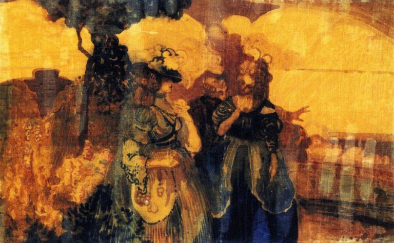 Colloque sentimentale Au pays bleu | Charles Conder | oil painting