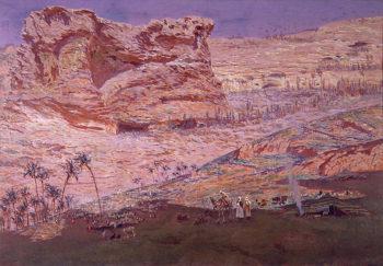 La Gruta de los Profetas | Antonio Munoz Degrain | oil painting