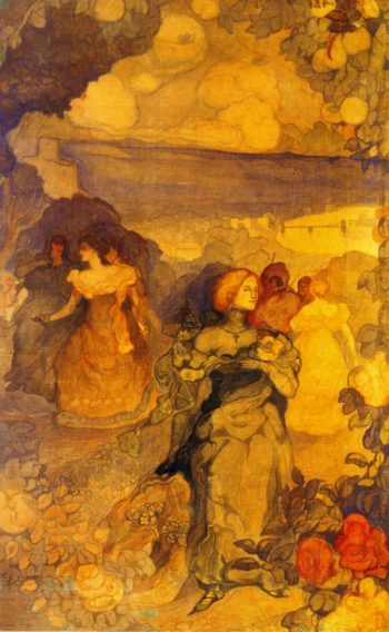 Homage a Villon | Charles Conder | oil painting