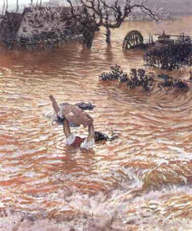 Inundacion   Antonio Munoz Degrain   oil painting