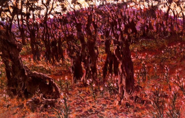 El Valle de Josafat   Antonio Munoz Degrain   oil painting