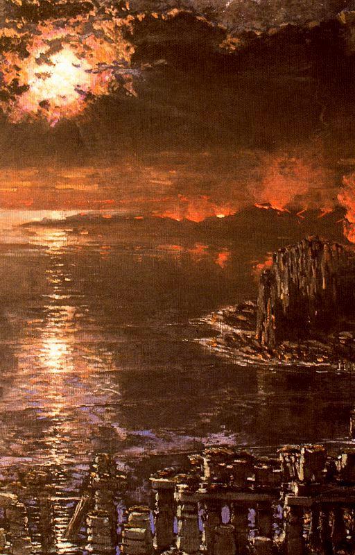 El mar Muerto | Antonio Munoz Degrain | oil painting