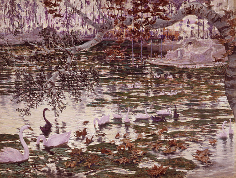 El Estanque | Antonio Munoz Degrain | oil painting