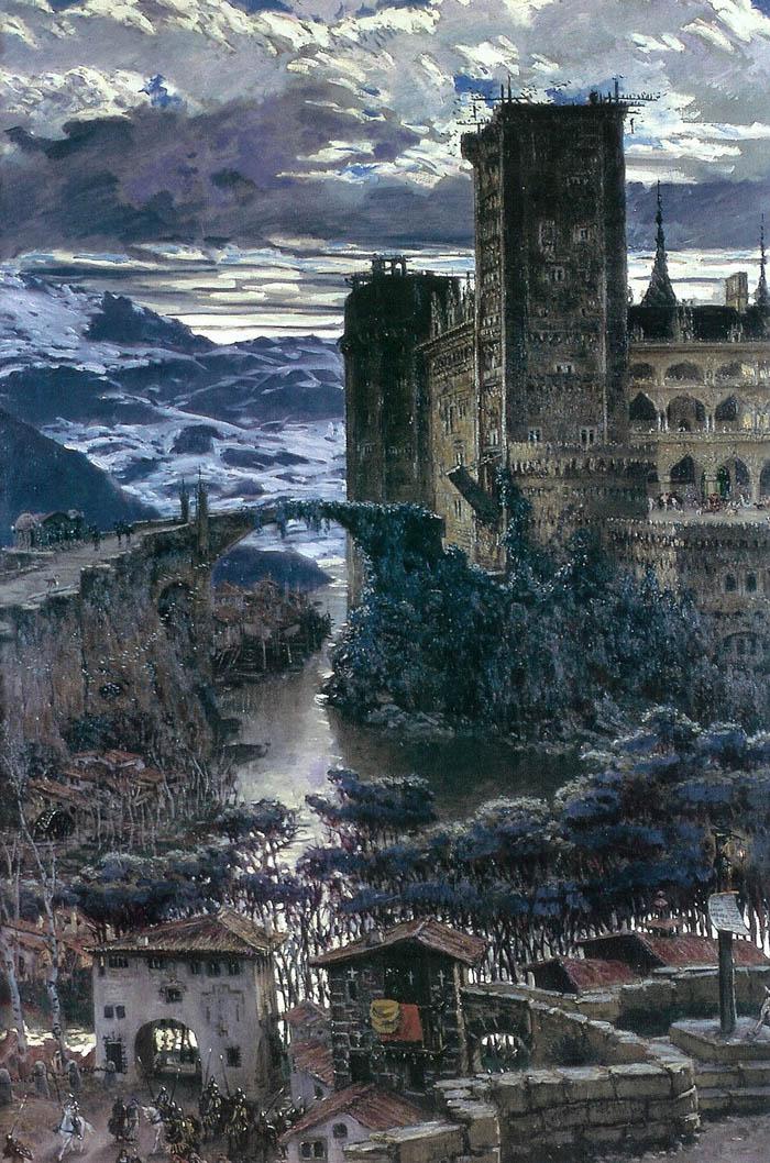 El Castillo | Antonio Munoz Degrain | oil painting