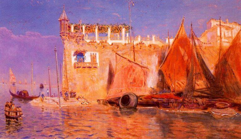 El Canal | Antonio Munoz Degrain | oil painting