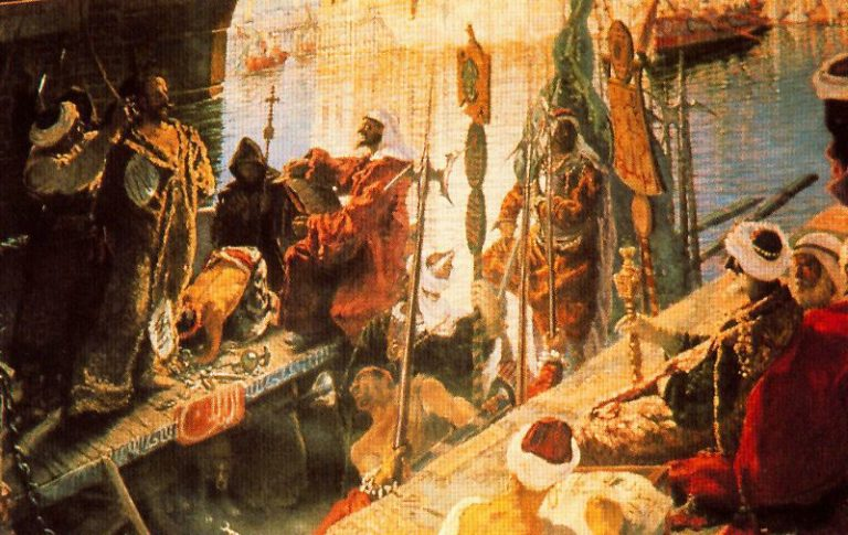 Cervantes en Argel | Antonio Munoz Degrain | oil painting