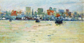 The Ferry | Theodore Robinson | oil painting