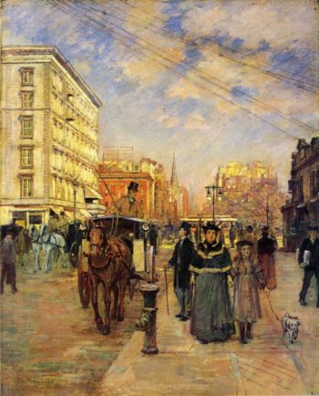 Fifth Avenue at Madison Square | Theodore Robinson | oil painting