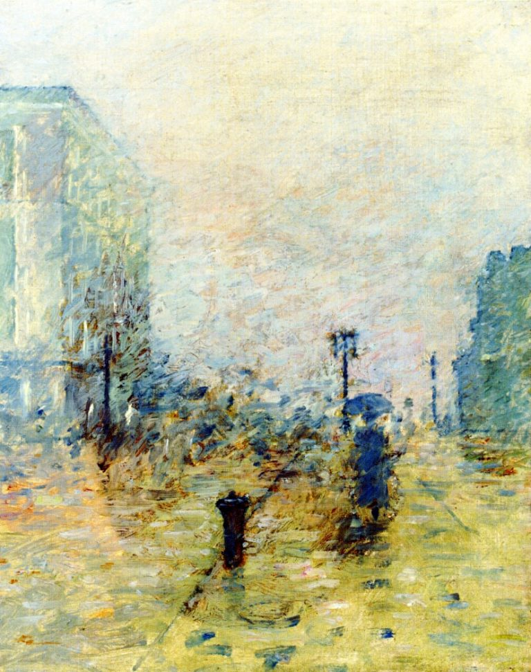 A Rainy Day New York | Theodore Robinson | oil painting