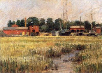 The Ship Yard | Theodore Robinson | oil painting