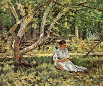 Nettie Reading | Theodore Robinson | oil painting