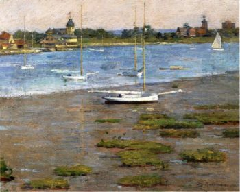 The Anchorage Cos Cob | Theodore Robinson | oil painting