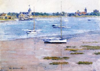 Low Tide | Theodore Robinson | oil painting
