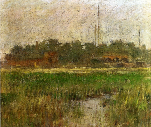 Creek at Low Tide | Theodore Robinson | oil painting