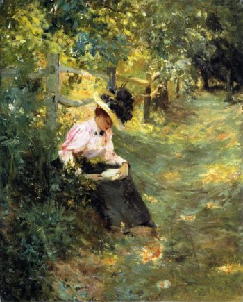The Lane | Theodore Robinson | oil painting
