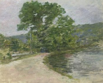 On the Canal 2 | Theodore Robinson | oil painting