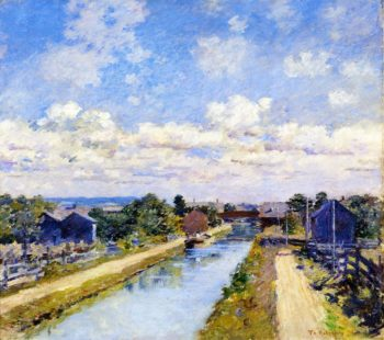 Port Ben Delaware and Hudson Canal | Theodore Robinson | oil painting