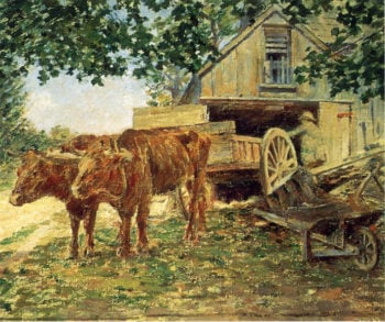 Oxen | Theodore Robinson | oil painting
