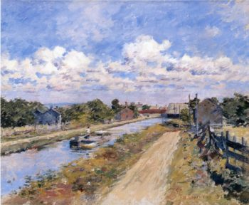 On the Canal of Port Ben Series | Theodore Robinson | oil painting