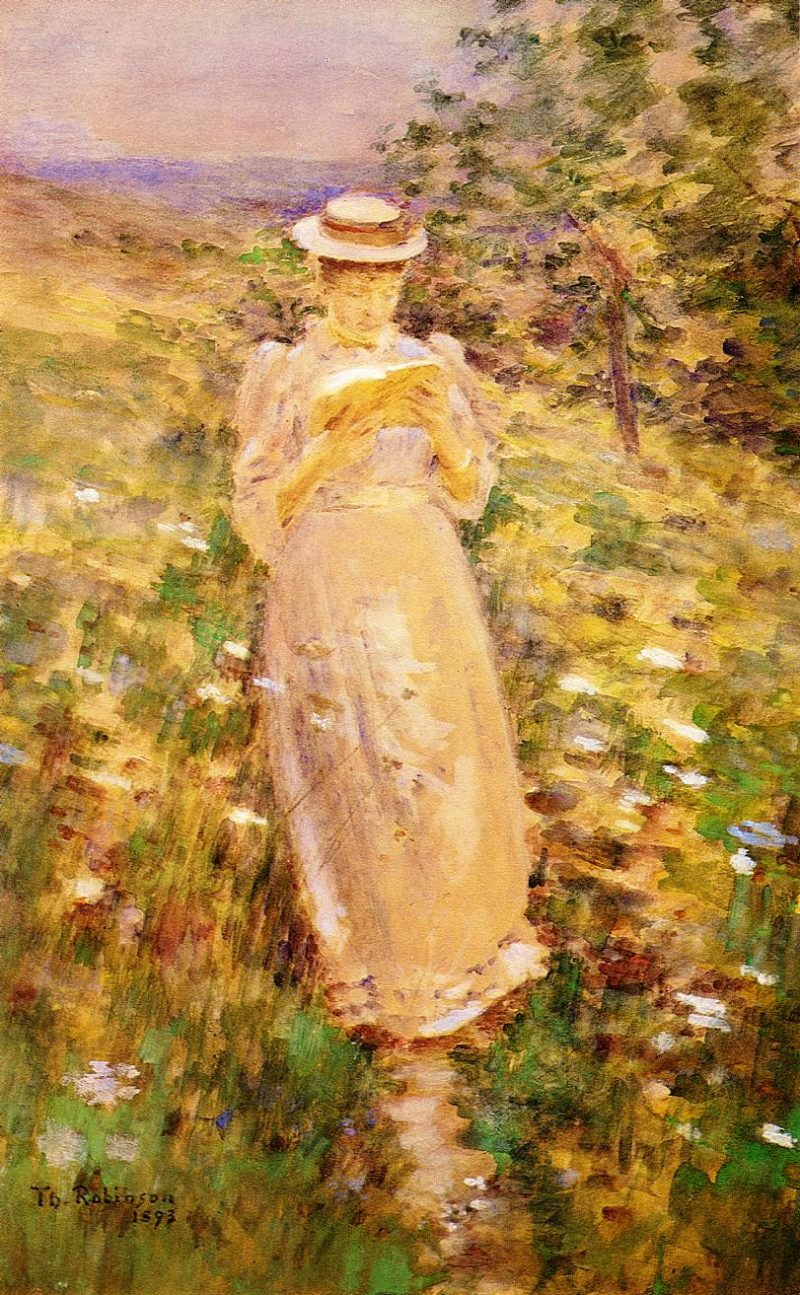 A Sweet Girl Graduate | Theodore Robinson | oil painting