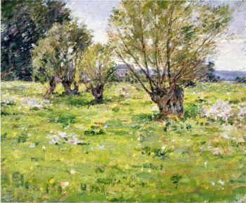 Willows and Wildflowers 2 | Theodore Robinson | oil painting