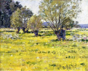 Willows and Wildflowers | Theodore Robinson | oil painting