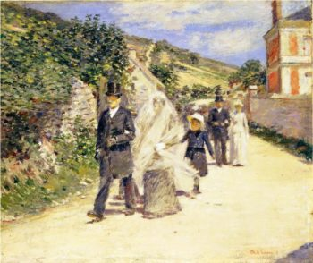 The Wedding March | Theodore Robinson | oil painting