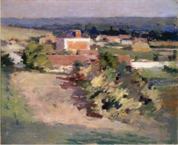The Red House | Theodore Robinson | oil painting