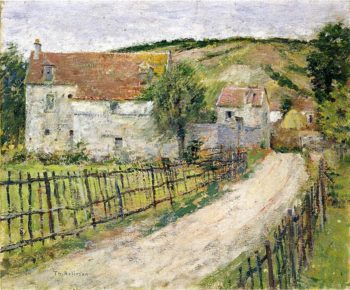 The Old Mills of Brookville | Theodore Robinson | oil painting