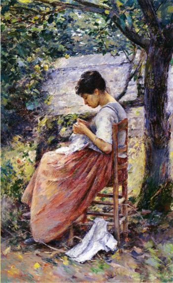 The Layette 2 | Theodore Robinson | oil painting