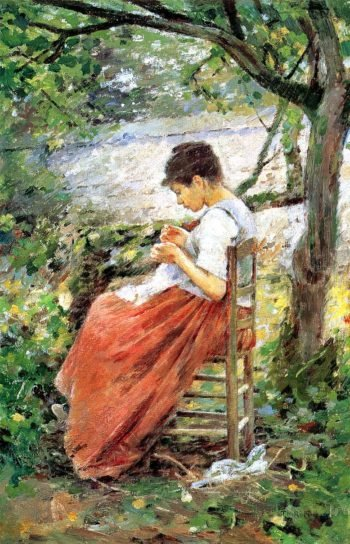 The Layette | Theodore Robinson | oil painting