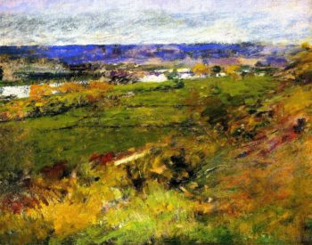 Study for Valley of the Seine from the Giverny Heights | Theodore Robinson | oil painting