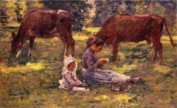Watching the Cows | Theodore Robinson | oil painting