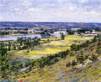 Valley of the Seine from Giverny Heights | Theodore Robinson | oil painting