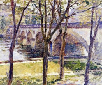 Bridge near Giverny | Theodore Robinson | oil painting