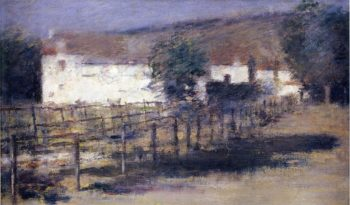 Moonlight Giverny | Theodore Robinson | oil painting