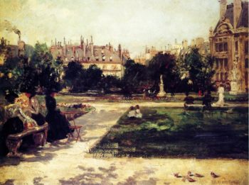 Park Scene | Theodore Robinson | oil painting
