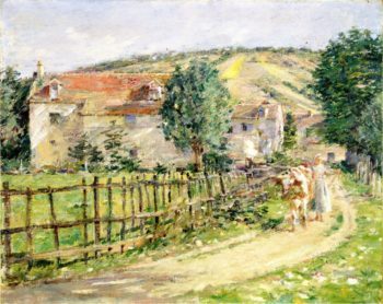 Road by the Mill | Theodore Robinson | oil painting