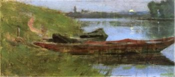 Two Boats | Theodore Robinson | oil painting