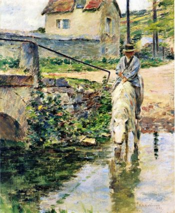 The Watering Place | Theodore Robinson | oil painting