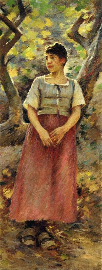 The Peasant Girl | Theodore Robinson | oil painting